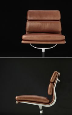 Spectacular quality leather for #Eames Soft Pad Group, and a 12 year warranty!!!  @hermanmiller @dwrpins