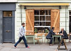 Exploring London villages: Bermondsey Street near London Bridge. B-Street Deli.