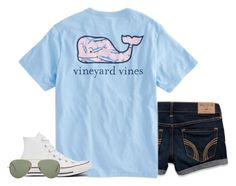 """gonna do a haul tomorrow"" by conleighh ❤ liked on Polyvore featuring Hollister Co., Vineyard Vines, Converse and Ray-Ban"
