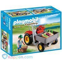 PLAYMOBIL 6131 Tractor met laadbak -  Koppen.com