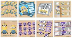 Kit de Minions para Imprimir Gratis. También con Anti Minions.