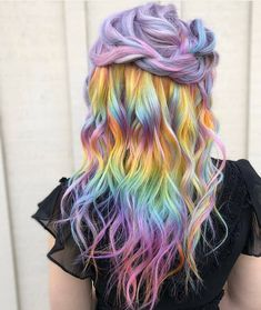 Inspiring Pastel Hair Ideas to make You Look Magical Hair Color Blue, Cool Hair Color, Hair Colors, Dyed Hair Pastel, Pink Hair, Pelo Multicolor, Corte Y Color, Bright Hair, Blue Hair