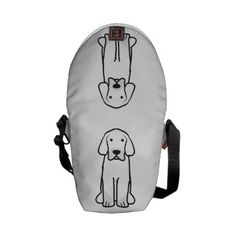 Tibetan Mastiff Dog Cartoon Messenger Bag