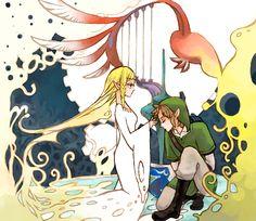 Skyward Sword-link and zelda