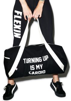 ae36b3e665a1 Private Party Turning Up Is My Cardio Gym Bag cuz turn down for what. When