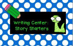 Writing center:  Story Starter - FREE printables