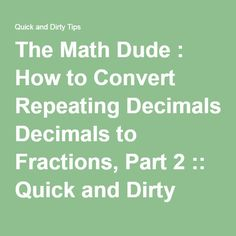 convert repeating decimal to fraction pdf