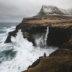 Just let it happen. These falls will never cease to amaze me. Gásadulur, Faroe Islands With love, BakSaks.com