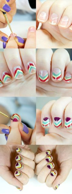 How to do a Missoni-inspired Manicure | Manicure Tutorials