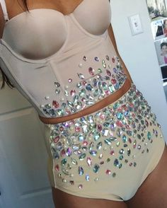 Rave diamond outfit - rave wear - rave fashion - tastefulgirl