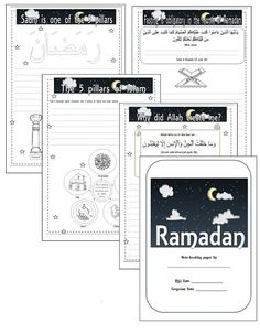 Ramadan note booking pages