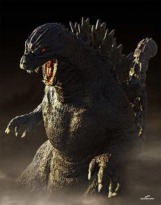 ArtStation - HEISEI GODZILLA , Dope Pope Japanese Film, Japanese American, Godzilla Suit, Sculptures, Lion Sculpture, Cool Monsters, Tyrannosaurus Rex, Creature Feature, King Kong