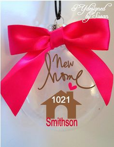 Red Door Personalized Christmas Ornament - New Neighbor, Real ...