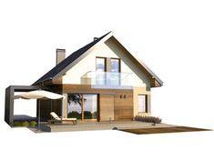 Projekt małego domu nowoczesego do 100m2 - Murano S. | Quattro Domy 100 M2, Modern House Design, Home Fashion, Cabin, House Styles, Portal, Home Decor, Homemade Home Decor, Cabins