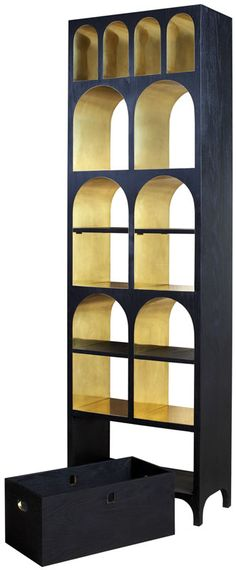 This would make an amazing altar shelf for special objects, with the gold painted inside. Aqueduct Bookcase on Tramshed