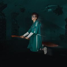 Dementors are on the way ! Fly away with our new Quidditch robe ! Draco Malfoy, Hermione Granger, Quidditch Robes, Harry Potter Halloween Party, Ron Weasley, Halloween Ghosts, Slytherin, Fan Art, Costumes