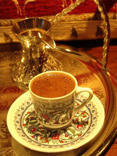 """""""A cup of coffee commits one to 40 years of friendship""""  A Turkish Proverb"""