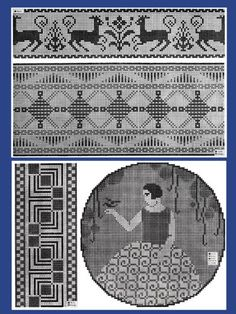 """Le Point de Croix #1 c.1916 Beautiful French Cross Stitch Charted Designs LARGE FORMAT - 11 x 17"""" Edition (also avail in Standard 8.5"""" x 11"""" size in another listing): Wolf & Dupeyron: Amazon.com: Books"""