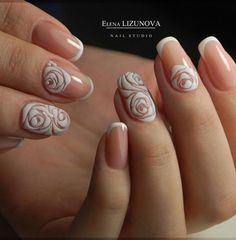 This shallow French manicure will visually elongate your fingers and nails. At the same time it is very fashionable and good for every occasion.