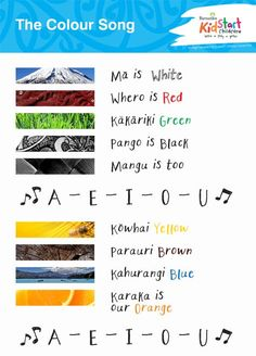 Part of our Songs for Tamariki series - children love to sing, it helps them learn! This one teaches the children about identifying colours in both English and Maori. Preschool Songs, Kids Songs, School Resources, Teaching Resources, Teaching Ideas, Maori Songs, Waitangi Day, Color Songs, Maori Art