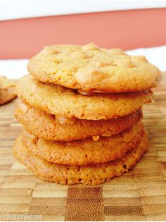 Butterscotch Pudding Cookies - soft and chewy cookies full of sweet, yummy butterscotch goodness! Recipe from http://giraffescanbake.com