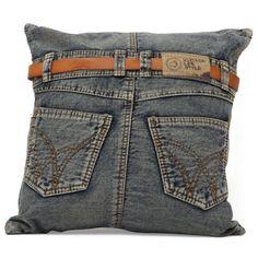 Jean Back Pocket Pillow $89 grandin road