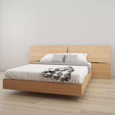 Nexera 346005 Nordik Platform Bed  Natural Maple  Queen  Amazon ca  HomeMatisse Fujian 3 piece Queen size Platform Bedroom Set  White  . Fujian 3 Piece Queen Size Platform Bedroom Set. Home Design Ideas