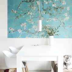 The lovely Almondblossom IXXI of Van Gogh. Get inspired at www.ixxidesign.com/inspiration  #IXXI #ixxiyourworld #home #interior #love #Almondblossom #art #VanGogh #VincentvanGogh #walldecoration #design #whiteliving #homedeco