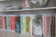 Girl. Inspired.: Mission Reorganization: Fabric Storage