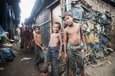 Children in Kallyanpur slum, Dhaka, Bangladesh. One billion people, or roughly one out of three urban dwellers, live in slum conditions. Sweet Jeans, Human Development, Slums, United Nations, Vulnerability, First World, People, The Past, Success