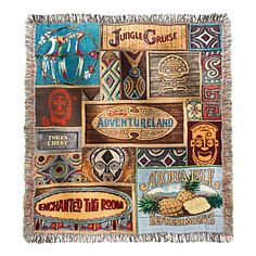 Adventureland Tapestry Woven Throw
