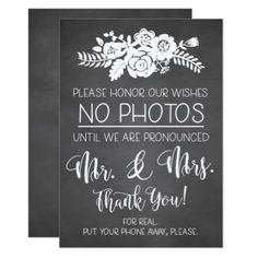 Please No Cell Phone Photos Wedding Ceremony Sign Card - wedding invitations diy cyo special idea personalize card