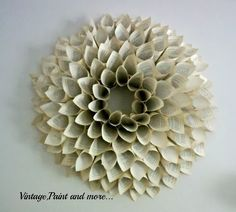 Book Page Wreath Tutorial - Vintage, Paint and more...