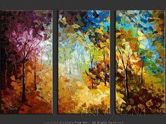 """Colors Of The Forest"" - Original Landscape Art by Lena Karpinsky, http://www.artbylena.com/original-painting/20543/colors-of-the-forest.html"