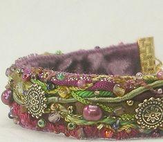 Handmade Fiber Art Bracelet--Gypsy--5/8 width. $55.00, via Etsy.