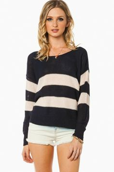 Central Line Sweater in Navy