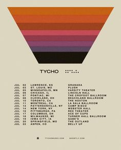 Tycho tour poster - nails the lo fi visuals every single time
