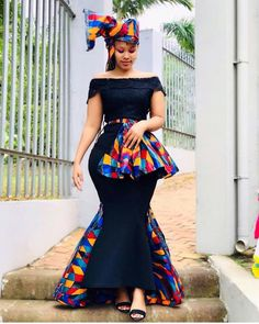 2020 Stylish And Creative Ankara Styles Inspiration for African Ladies To Check Out Shweshwe Dresses, African Maxi Dresses, Latest African Fashion Dresses, African Dresses For Women, African Print Fashion, Ankara Gowns, Africa Fashion, African Women, Ankara Fashion