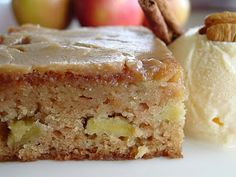 Fresh Apple Cake w/ Brown Sugar Glaze - Great holiday breakfast or dessert