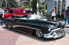 1952 Buick convertible with top down - mod - black - fvr 2 by Pat Durkin - Orange County, CA, via Flickr