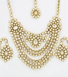Buy Real Kundan Necklace Set necklace-set online