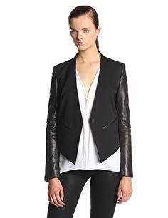 Helmut Lang Women's Cropped Leather-Sleeve Tuxedo Jacket Helmut Lang http://www.amazon.com/dp/B00KFP0YVK/ref=cm_sw_r_pi_dp_-ctbub0X4Z1HP