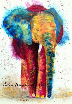 Elephant Spirit original painting by Ellen Brenneman