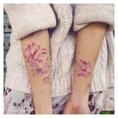 51 Watercolor Tattoo Ideas for Women ❤ liked on Polyvore featuring accessories