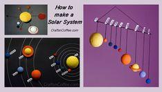 Save this for school! Three tutorials show how to DIY a Solar System. CraftsnCoffee.com.