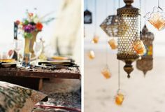 What about something like this? Hanging morrocan style lanterns?