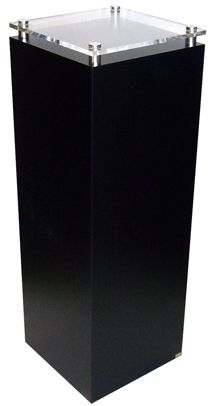 Black Laminate with Acrylic Top and Brushed Stainless Stand-Offs