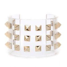Valentino Rockstud Cuff Bracelet ($917) ❤ liked on Polyvore