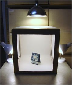 DIY Light box for taking pictures of your products, maybe for ebay or etsy…