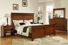 Lafayette King Sleigh Bed and Night Stand - Homestyles Furniture opulence of design heightens the allure of the Lafayette Bedroom collection. Lafayette King Sleigh Bed and Night Stand by Home Styles are inspired by Ancestral traditional design Queen Bedroom, Bedroom Sets, Master Bedroom, Dream Bedroom, Bedding Sets, Bedroom Furniture Stores, Online Furniture, Furniture Outlet, Bedroom Decor
